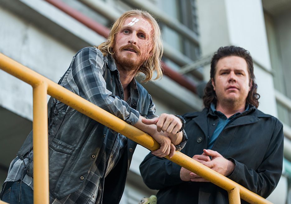 Dwight (Austin Amelio) and Eugene Porter (Josh McDermitt) in The Walking Dead Season 7 Episode 11 Photo by Gene Page/AMC